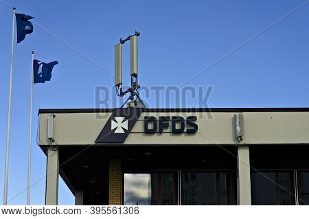 Oslo, Norway - Aug. 29th 2020: Dfds Ferry Passenger Terminal In The Port Of Oslo, Norway.
