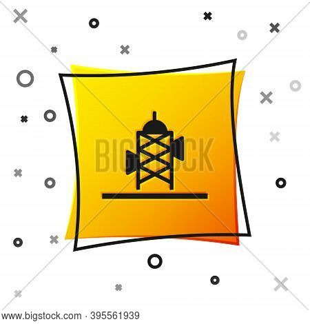 Black Antenna Icon Isolated On White Background. Radio Antenna Wireless. Technology And Network Sign