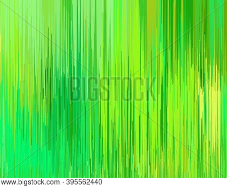 Abstract Background With Thin Green Vertical Lines. Vector Illustration