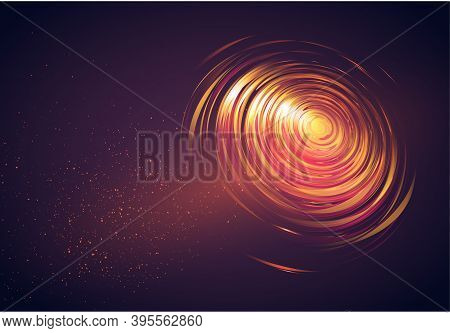Abstract Golden Background With Twirl. Vector Illustration