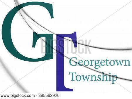 3d Emblem Of Georgetown Charter Township (michigan), Usa. 3d Illustration.