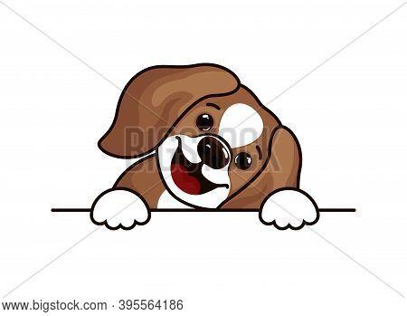 Beagle Dog - Vector Illustration Design For T Shirts. Cute Beagle Icon, Small Hunting Dog