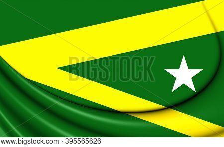 3d Flag Of Maraba (para), Brazil. 3d Illustration.