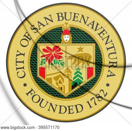 3d Seal Of Ventura (california), Usa. 3d Illustration.