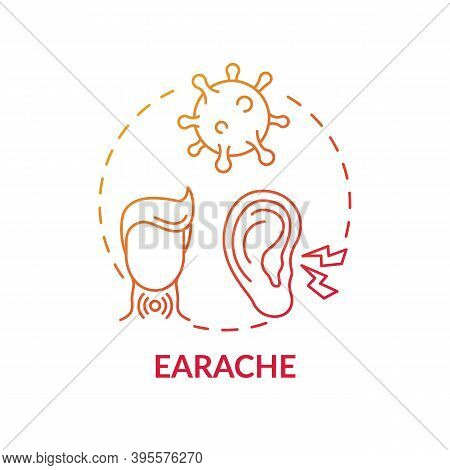 Earache Concept Icon. Sore Throat Complication Idea Thin Line Illustration. Sharp, Dull And Burning