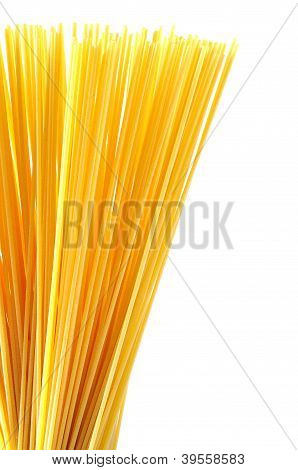 Spaghetti Italian Pasta Isolated On White Background