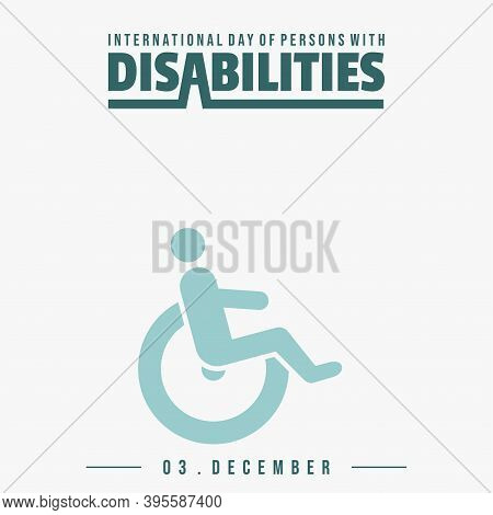 International Day Of Persons With Disabilities With Wheelchair For The Disabled Icon Design. Good Te