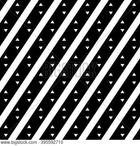 Seamless Vector.triangular Shapes, Tilted Stripes Wallpaper. Diagonal Lines, Triangles Ornament. Fol