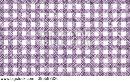 Purple White Gray Lilac Checkered Background With Blur, Gradient And Grunge Texture. Classic Checker