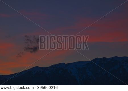 Sunset At The Swiss Alps