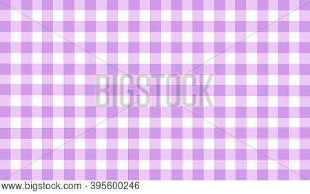 Lilac Purple Lavender Checkered Background. Space For Graphic Design. Checkered Texture. Classic Che