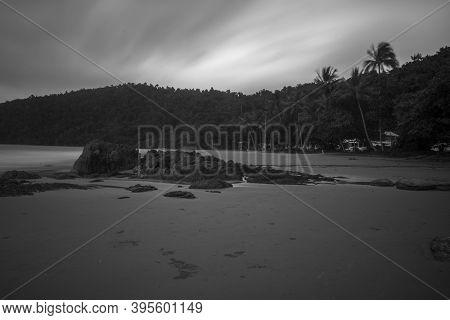 A Rainy Day At The Beach Of Etty Bay Near Innisfail In North Queensland, Australia