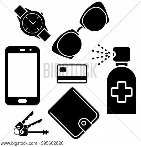 Sanitizer Spray For Disinfecting Phone, Wallet, Keys, Credit Card, Sun Glasses And Hand Watches. San