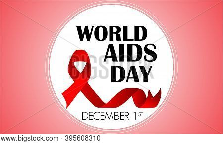 World Aids Day Banner Vector Design With Symbol