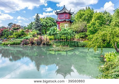 Chinese Temple Garden In Montreal