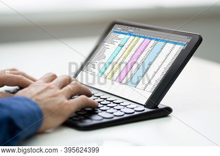 Working With Digital Software Spreadsheet Report On Screen