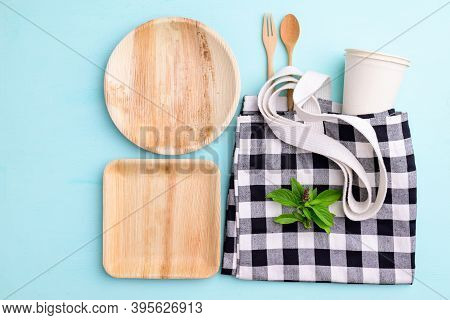 Biodegradable, Compostable, Disposable Or Eco Friendly Utensil (plate, Dish, Bowl, Cup) And Fabric B