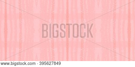 Watercolour Pink Plaid. Girly Girl Tartan Fabric. English Textured Prints. Seamless Pink Plaid. Eleg