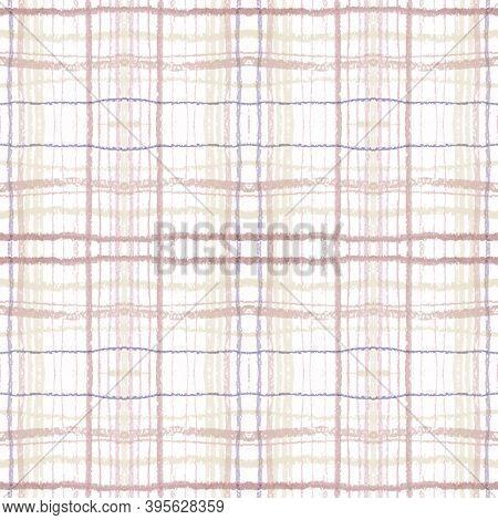 Plaid Pattern. Beige Check Fabric. Scotland Buffalo Print. Seamless Classic Material. Traditional Pl