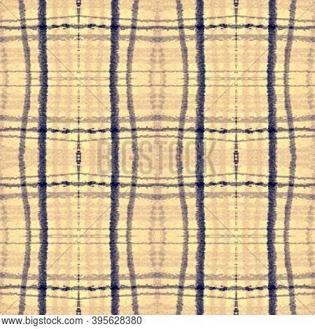 Blue Square Plaid. Seamless Gingham Tweed. Scottish Check Texture. Fashion Retro Material. Square Pl