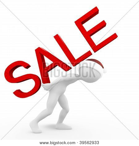 Man with the Sale Inscription