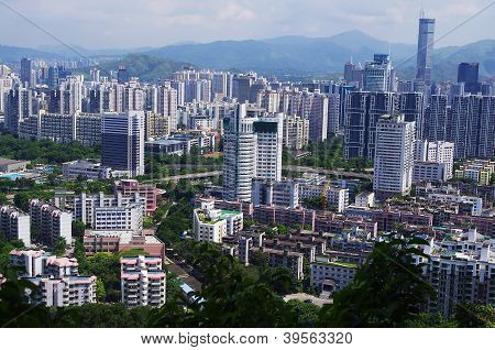 landmark building of chinese city