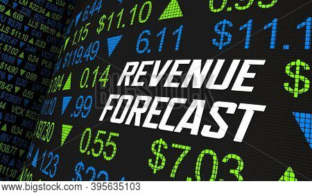 Revenue Forecast Stock Market Earnings Estimate Financial Outlook 3d Animation