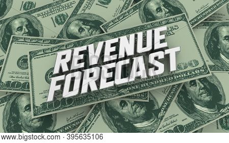 Revenue Forecast Money Financial Outlook Prediction Estimate 3d Illustration
