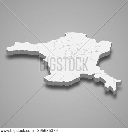3d Isometric Map Of Ankara Is A Province Of Turkey