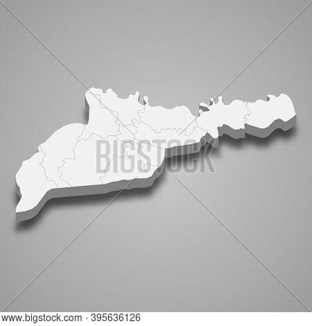 3d Isometric Map Of Chernivtsi Oblast Is A Region Of Ukraine