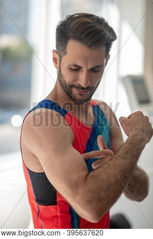 Picture Of A Fit Sporty Man With Good Muscles