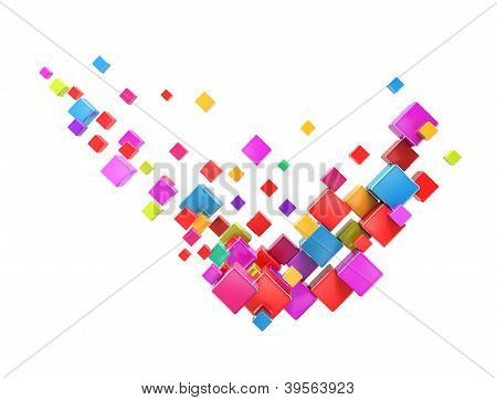 Abstract check mark colorful boxes