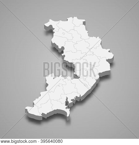3d Isometric Map Of Odessa Oblast Is A Region Of Ukraine