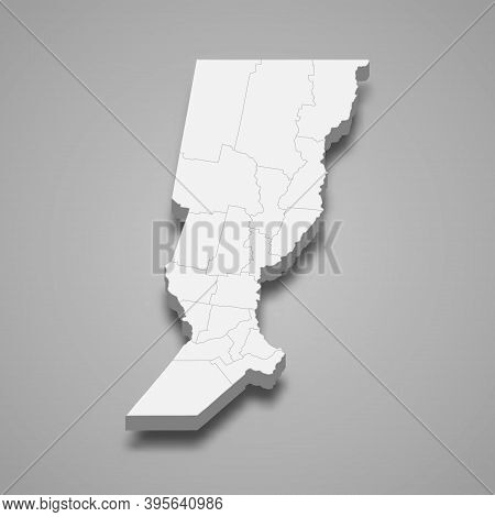 3d Isometric Map Of Santa Fe Is A Province Of Argentina