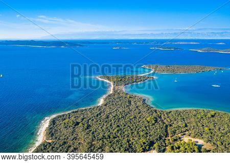 Amazing Seascape, Dugi Otok Island In Croatia, Aerial View From Drone