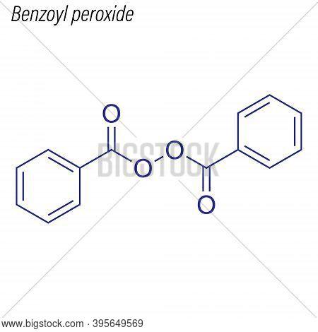 Vector Skeletal Formula Of Benzoyl Peroxide. Drug Chemical Molec