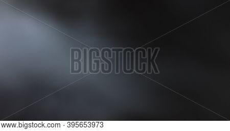 Atmospheric Smoke 4k Fog Effect. Smoke In Slow Motion On Black Background. White Smoke Slowly Floati