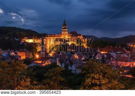 The State Castle And Cesky Krumlov In The South Bohemian District