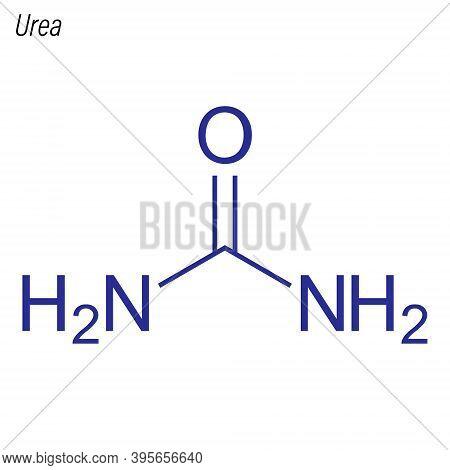 Vector Skeletal Formula Of Urea. Drug Chemical Molecule.
