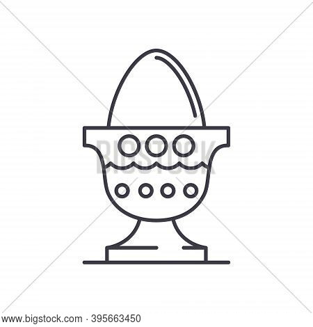 Decorate Eggs Icon, Linear Isolated Illustration, Thin Line Vector, Web Design Sign, Outline Concept