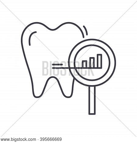 Decayed Tooth Icon, Linear Isolated Illustration, Thin Line Vector, Web Design Sign, Outline Concept