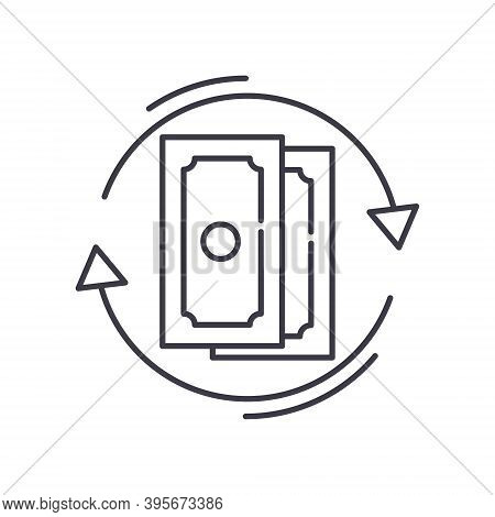 Devaluation Icon, Linear Isolated Illustration, Thin Line Vector, Web Design Sign, Outline Concept S
