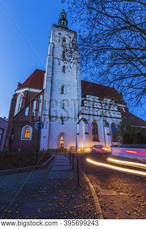Church In Olesnica. Olesnica, Lower Silesia, Poland.