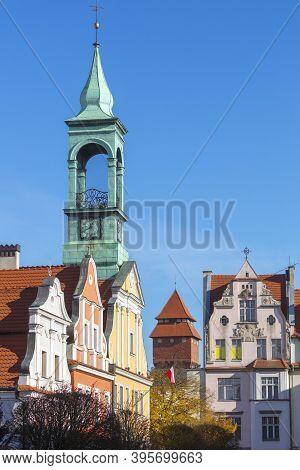 Kluczbork - The City Hall. Kluczbork, Opole, Poland.