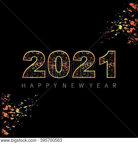 Save Download Preview New Year 2021. Happy New Year 2021 Vector. Number 2021 In The Modern Concept.