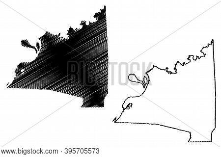 Claiborne County, Mississippi (u.s. County, United States Of America, Usa, U.s., Us) Map Vector Illu