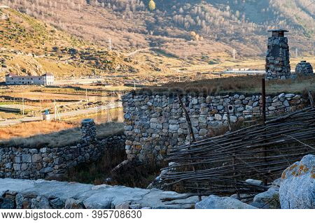 View Of Old Abandoned Balkar Village In North Caucasus
