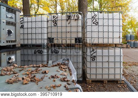 Storage Of Chemical Containers On And Industrial Site