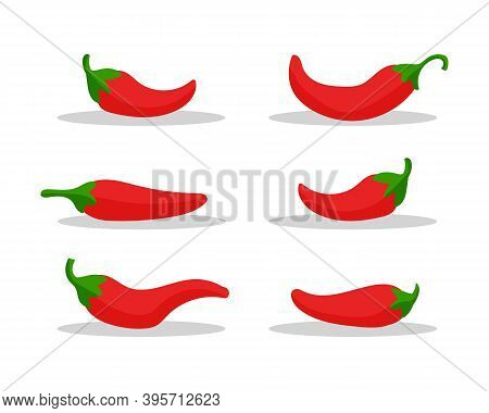Spicy Food, Mild And Extra Hot Sauce, Chili Pepper Red Outline Icons. Design For Food, Culinary Prod
