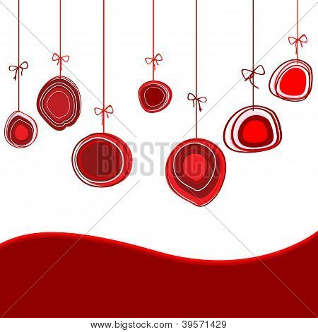 Christmas Globe Card With Place For Yor Text
